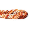 3-3.5mm Mexican Fire Opal faceted rondelles 14.5 inches 179 Beads