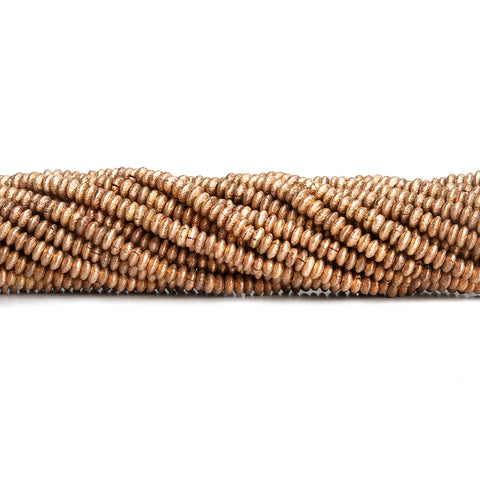 2mm Rose Gold Plated Copper Rondelle Beads 8 inch 150 pieces