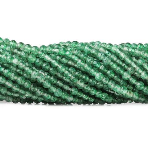 2mm Emerald Green Aventurine Plain Round Beads, 15 inch