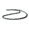 3mm Black Spinel Faceted Rondelle Beads 13 inch 150 pieces