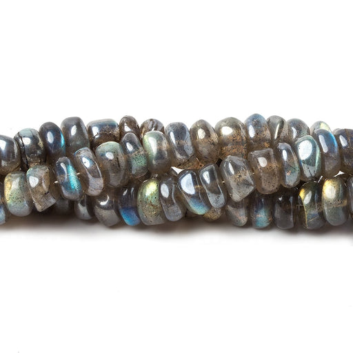6-7mm Mystic Labradorite Plain Rondelle Beads 8 inches 52 pieces