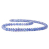 Tanzanite faceted rondelles 16 inch 112 beads 3.5mm - 6mm
