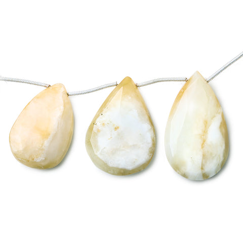15 - 30mm Dendritic Opal Faceted Pear Bead 8 inch 10 pieces