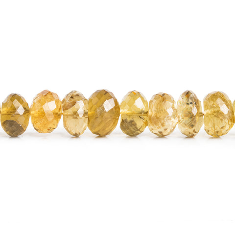 Citrine Faceted Rondelle Beads 14 inch 75 pieces