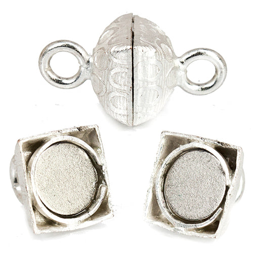 Sterling Silver plated Square Magnetic Clasp Print Collection