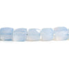 8mm-10mm Turkish Blue Chalcedony Faceted Cube Beads 16 inch 48 pieces