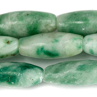 "Tree Agate Beads Plain 12x5mm Barrel, 15"" length, 34 pcs"