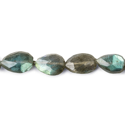 11x7-13x8mm Labradorite Straight Drill Faceted Pears 14 inch 26 beads