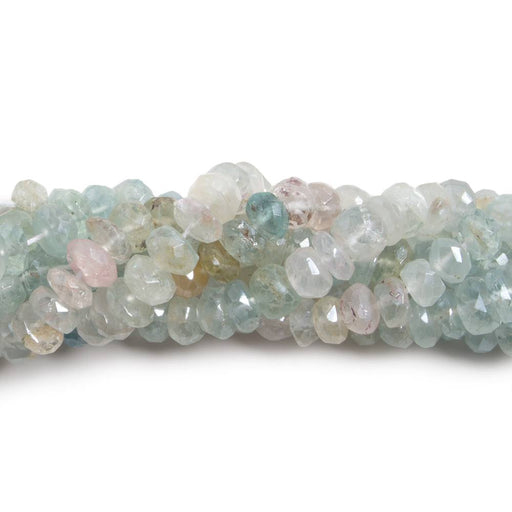 5.5-6mm Mystic Multi-Beryl faceted rondelle beads 14 inch 112 pieces
