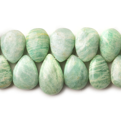 "Amazonite Plain Pear Beads, 5.75"", 13x9x6-15x10x6mm, 30 pieces"