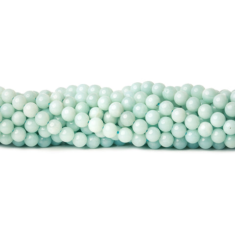 6mm Amazonite Plain Round Beads 15 inch 69 pieces