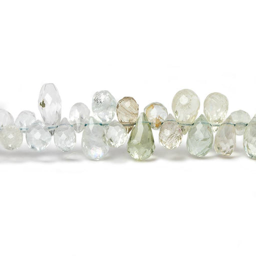 4x3-6x4mm Multi Beryl faceted teardrop beads 8 inch 114 pieces