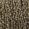 3.5mm Metallic Gold plated Pyrite & Pyrite Gold plated Chain by the foot