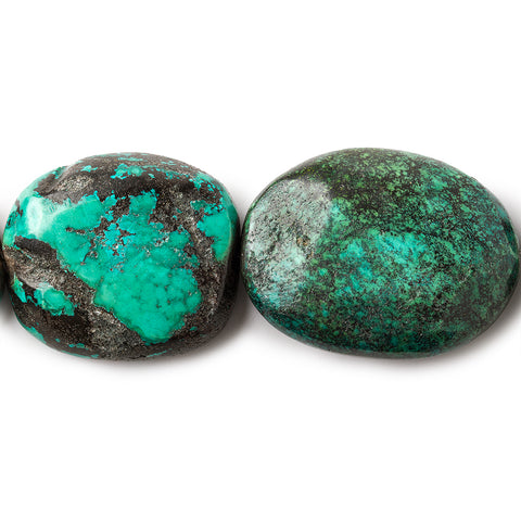 Turquoise Treated Tumbled Plain Nugget Beads, 16 inch, 25x20x14-36x28x12mm, 13 pieces