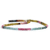 3.5mm Multi Color Tourmaline Faceted Rondelles 13 inch 200 beads