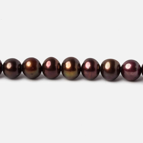 5x4-6x5mm Dark Chocolate side drilled Baroque Freshwater Pearl 16 inch 76 pieces