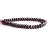 7mm Garnet Faceted Rondelle Beads 8 inch 50 pieces