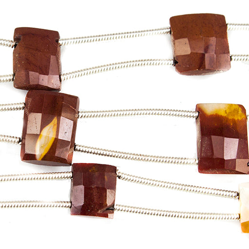 12mm Moukaite Faceted Square and Rectangle Beads 6 inches 6 beads