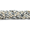 3mm-4mm Dendritic Opal Faceted Rondelle Beads 14 inch 145 pieces