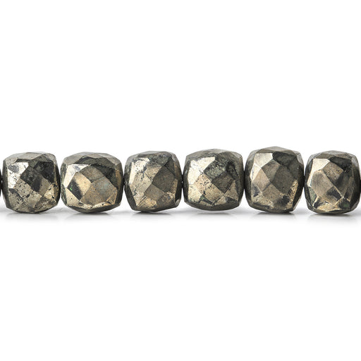6-7mm Pyrite Faceted Cube Beads 29 pieces