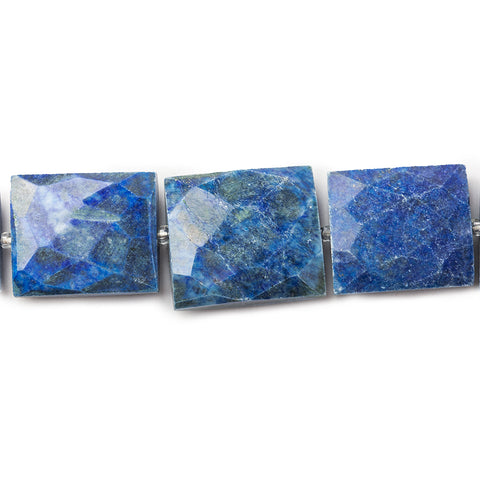 17-23mm Lapiz Lazuli Faceted Rectangle Beads 15 inch 16 pieces