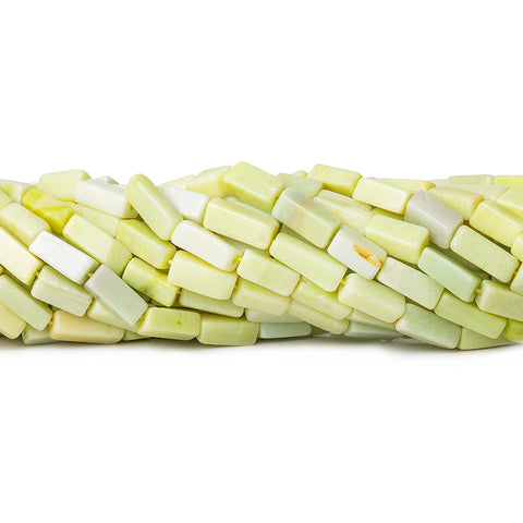 Lemon Chrysoprase Plain Rectangle Beads 13 inch 37 pieces