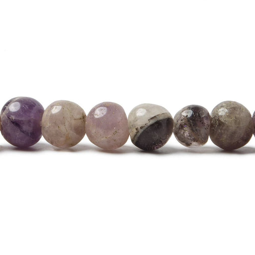 6mm Cape Amethyst & Multi Gemstone Plain Round Beads 14 inches 66 beads