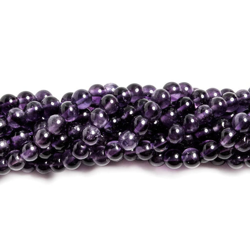 4mm Amethyst plain rounds 14 inches 89 beads