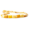 16x12mm Yellow Jade Plain Rectangle 15 inches 24 beads