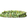 7x5mm-10x6.5mm Green Turquoise Faceted Teardrop Beads 8 inch 65 pieces