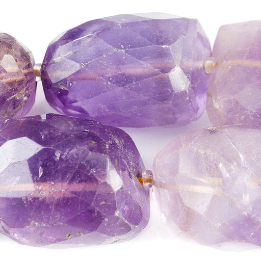 Ametrine Faceted Nugget Beads 15 inch 15 pieces