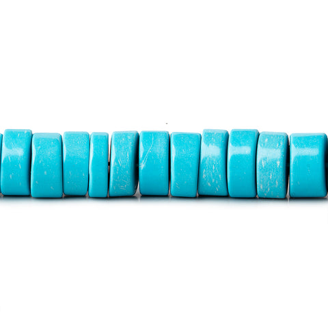 10mm Turquoise Blue Howlite Heishi Beads 15 inch 85 pieces