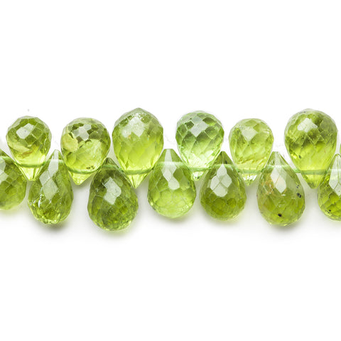 Top quality 4x3-8x6mm Peridot faceted tear drop briolette beads 10.5 inch 90 pieces - Buy From The Bead Traders Online Store.