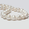 13-15mm White Ringed Baroque Side Drilled Freshwater Pearls 14.5 in 28 pcs