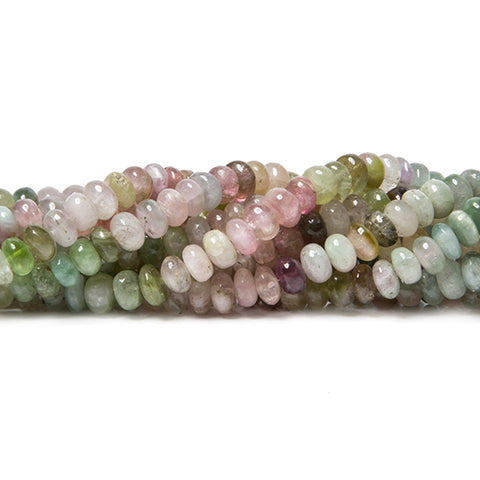 5.5-6mm Afghani Tourmaline plain rondelles 18.5 inch 135 beads