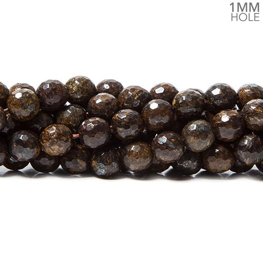 6mm Bronzite faceted round 15 inches 60 Beads