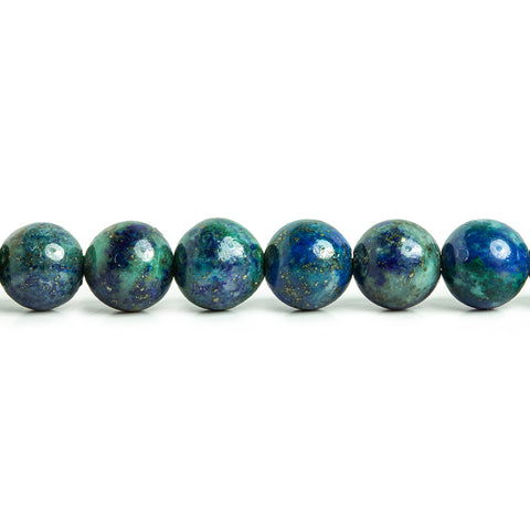 6mm Chrysocolla in Lapis Lazuli plain round 15 inches 62 Beads