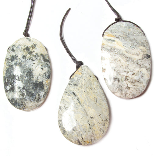 45x25mm Buff Jasper Plain Focal Pendant Bead 1 piece