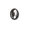 17x13mm Solid Hematite Oval Button Connector 1 piece