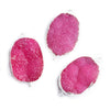 22x30mm Silver Leafed Pink Drusy Oval Connector Focal 1 bead