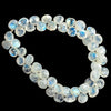 9mm Rainbow Moonstone Faceted Heart Beads 8.5 inch 48 pieces