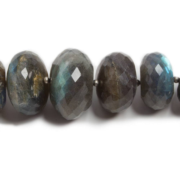 "Labradorite Gemstone Rondelle Faceted 3-4 mm Beads 18/"" Strand Necklace"