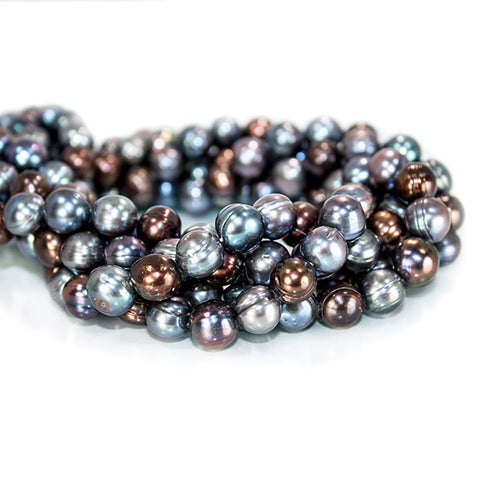 10mm Multi Color Baroque Freshwater Pearls 15.5 inch 41 pieces