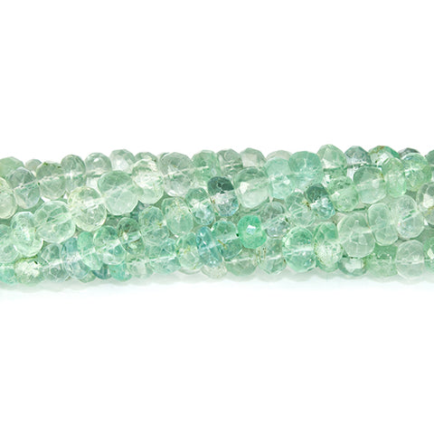 4.5-5mm Mint Green Fluorite faceted rondelle beads 13.5 inch 120 pieces