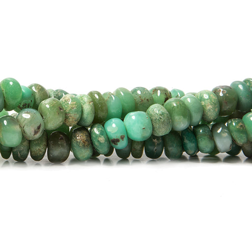 6-7mm Chrysoprase plain rondelle beads 16 inches 98 pieces