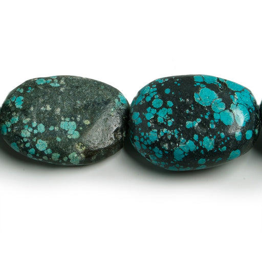 31x24-38x23mm Turquoise Tumbled Rustic Nugget Beads 16 inch 12 pieces