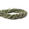 3.5-4mm Metallic Grass Green plated Black Spinel faceted rondelle Beads 101 pcs