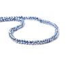 3.5-4mm Metallic Periwinkle Blue plated Black Spinel faceted rondelle Beads 104 pcs
