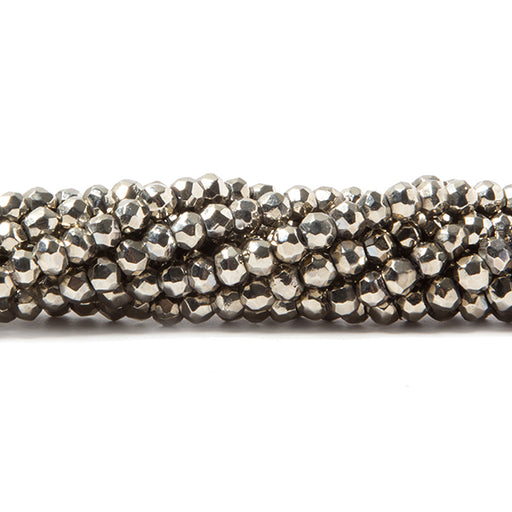 3.5-4mm Metallic Dark Champagne plated Black Spinel faceted rondelle Beads 106 pcs
