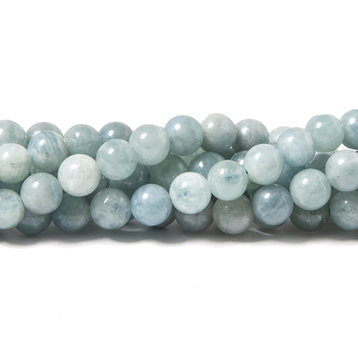 6.5mm Mystic Aquamarine plain round beads 13 inch 53 pieces